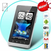 DUAL SIM ANDROID 2.3 SMARTPHONE TABLET WITH 5 INCH CAPACITIVE SCREEN