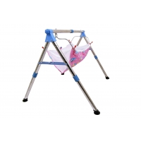 STAINLESS STEEL FOLDING BABY CRADLE
