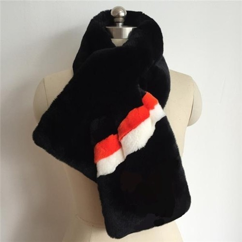 376ea9823b70 Soft Patchwork Scarf Faux Fur Stole Striped Multicolor in China ...
